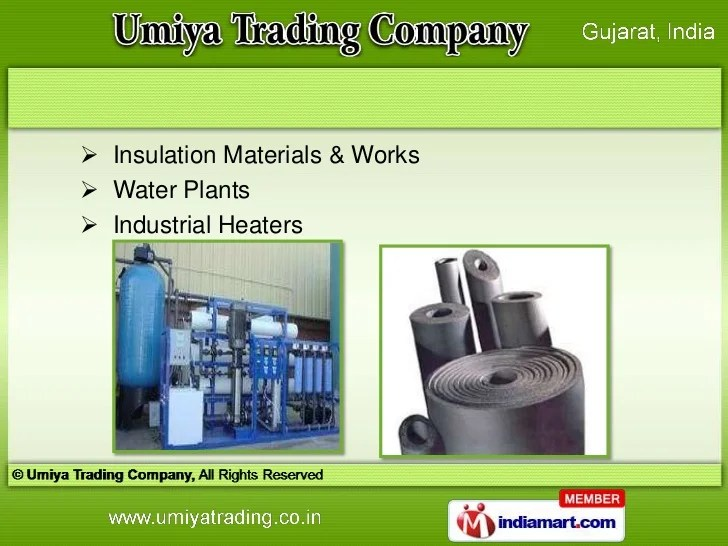 Industrial Products By Umiya Trading Company Ahmedabad