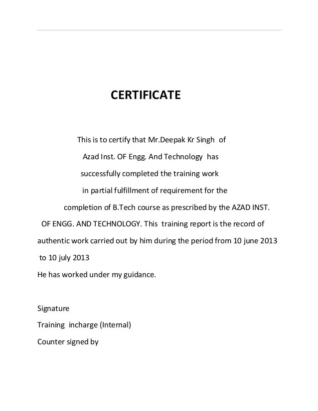 job completion certificate letter - Josemulinohouse