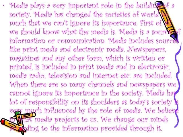 Influence Of Media On Society Ppt