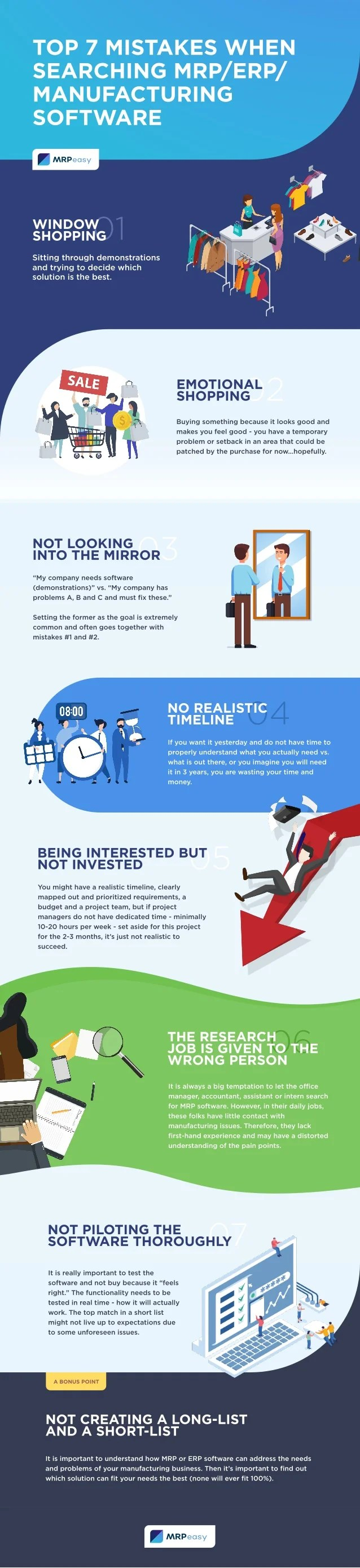 Erp Libra Infographic The Top 7 Mistakes To Avoid When Searching For An Erp
