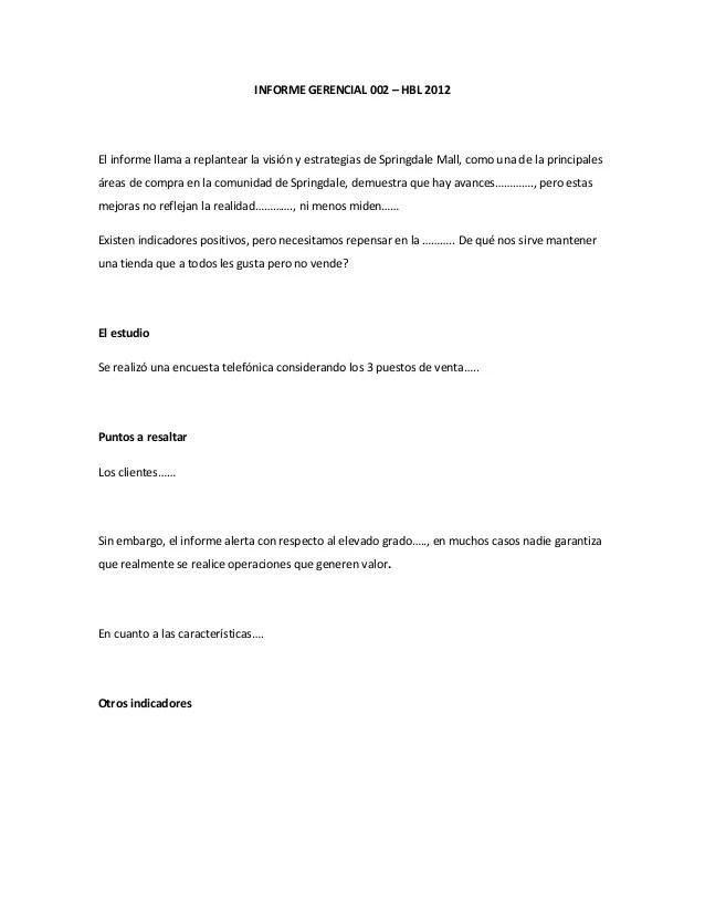 Formatos De Informes Gerenciales colbro - formatos de informes gerenciales