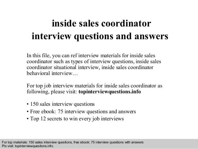 inside sales coordinator job description - Funfpandroid