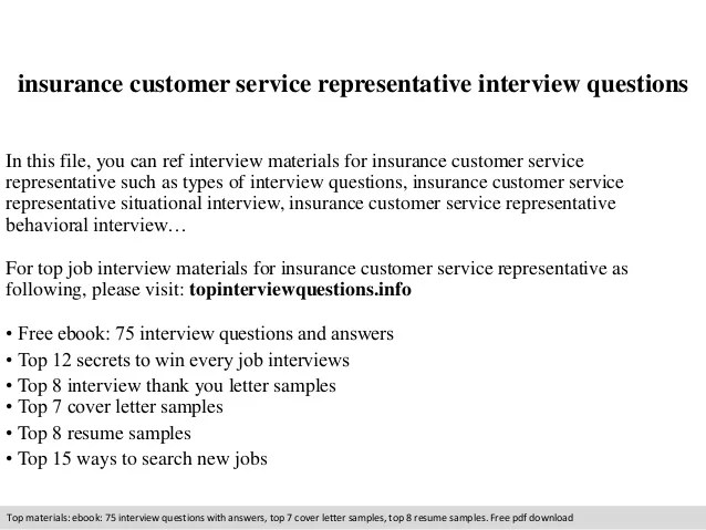 interview questions and answers customer service representative