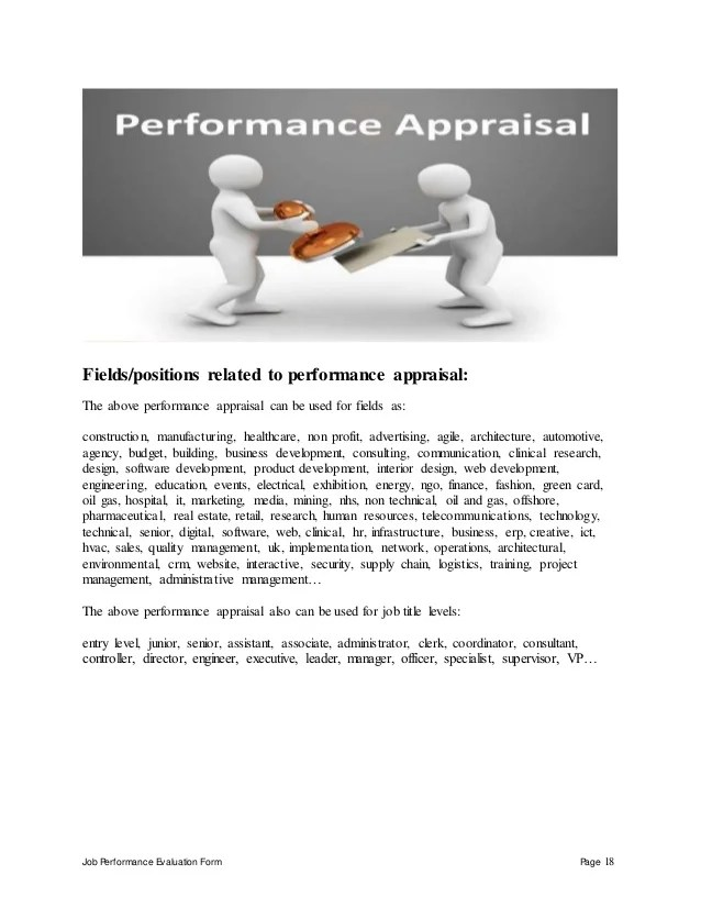 Employee Performance Appraisal Form Definition Of Ratings International Sales Manager Performance Appraisal
