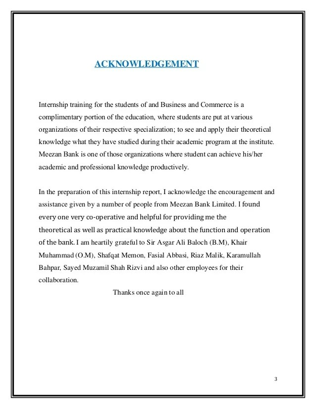 Writing College Scholarship Thank You Letters Internship Report Onmeezanbankltd Actual 2014