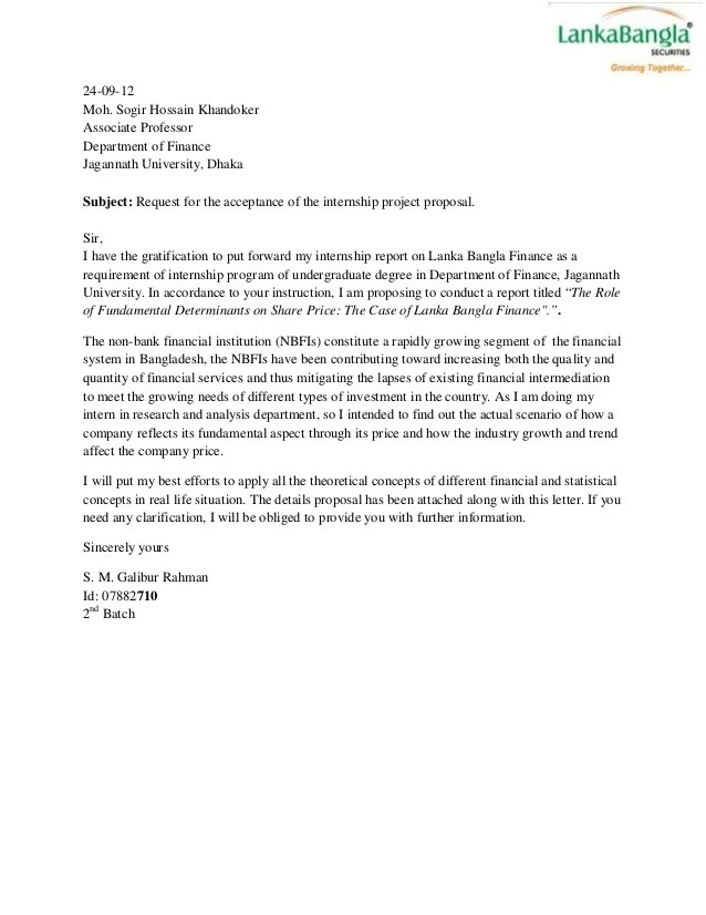 proposal letter for internship - Pinarkubkireklamowe