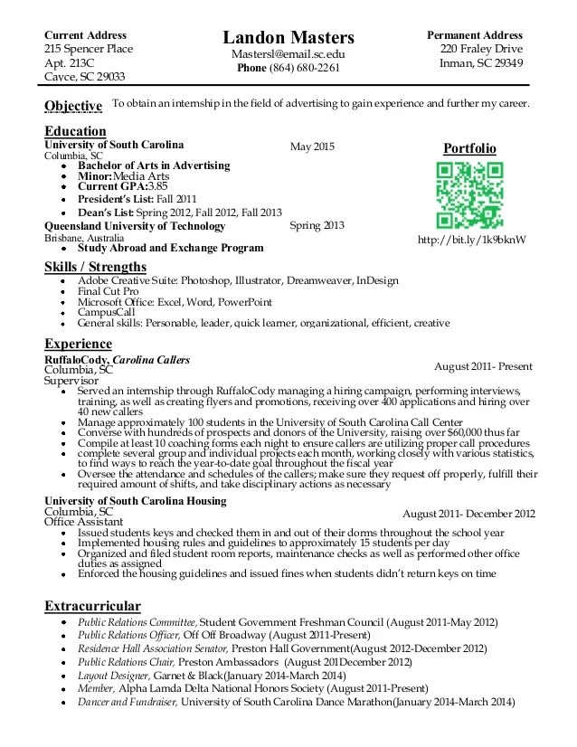 Intern Sample Resume Marketing Intern Resume Examples Internship Clive