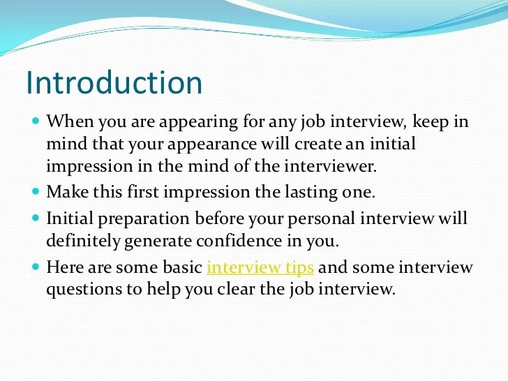 interview tips dos and donts - Minimfagency - first interview tips