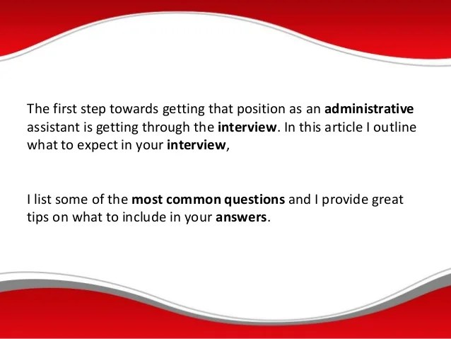 administrative assistant interview questions tell me about administrative assistant interview questions tell me about yourself ccuart - Administrative Assistant Interview Questions Answers
