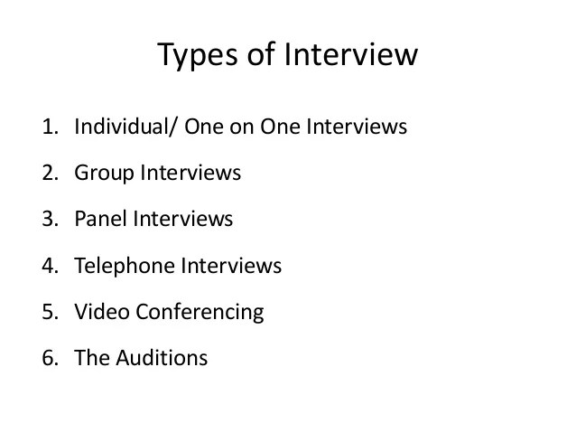 types of interview - Towerssconstruction