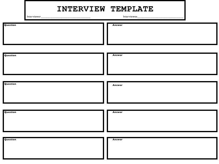 Interview Templates For Employers
