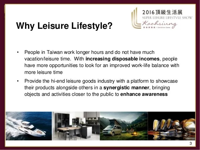 Introduction Super Leisure Lifestyle Show 2016 - Taiwan