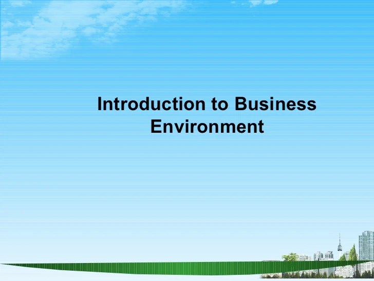Introduction to business environment ppt @ bec doms