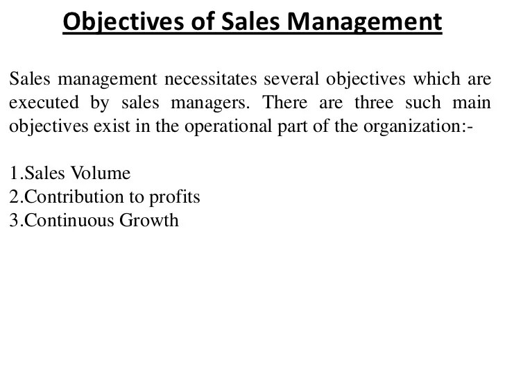 sales objectives - Towerssconstruction