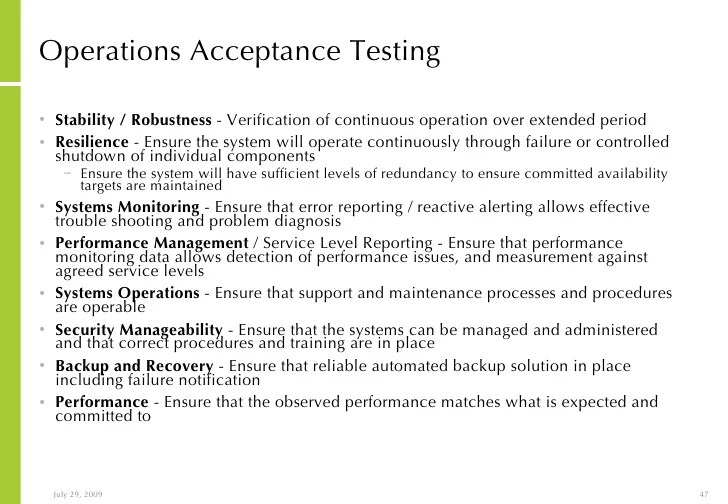 Operational Acceptance Testing Template Choice Image