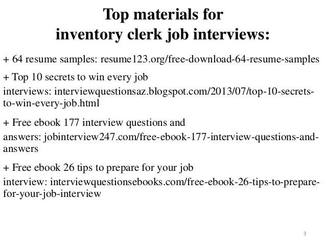 inventory clerk resume - Pinarkubkireklamowe