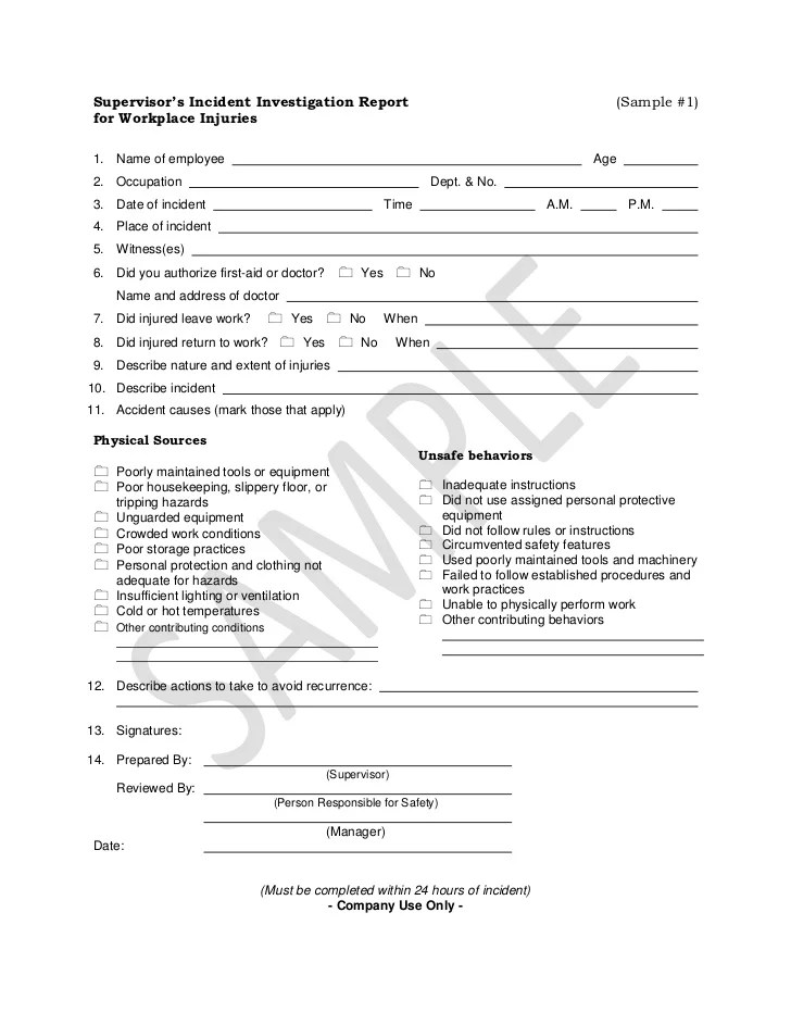 Incident Report Template Hr | Partnership Agreement Template Non