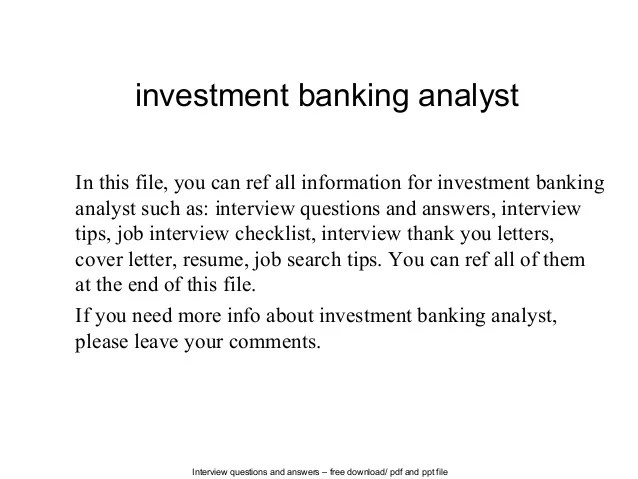 cover letter investment banking analyst - Alannoscrapleftbehind - banking cover letter for resume