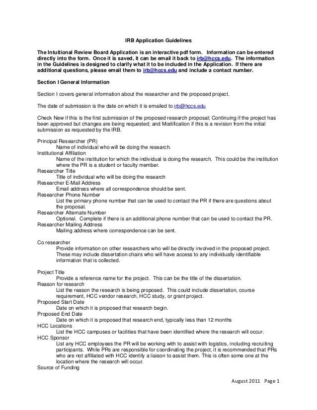 irb cover letter - Doritmercatodos