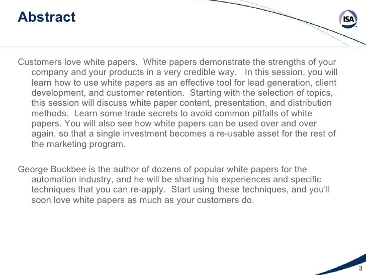 white papers sample - Goalgoodwinmetals