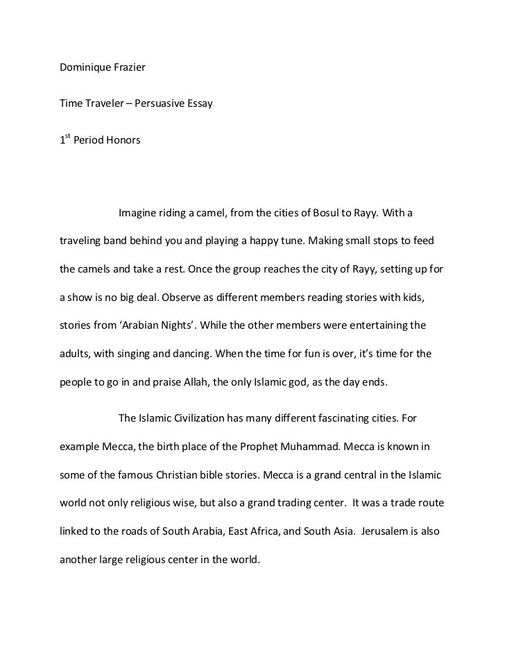 Cover Letter Template For Examples Of Persuasive Essays High