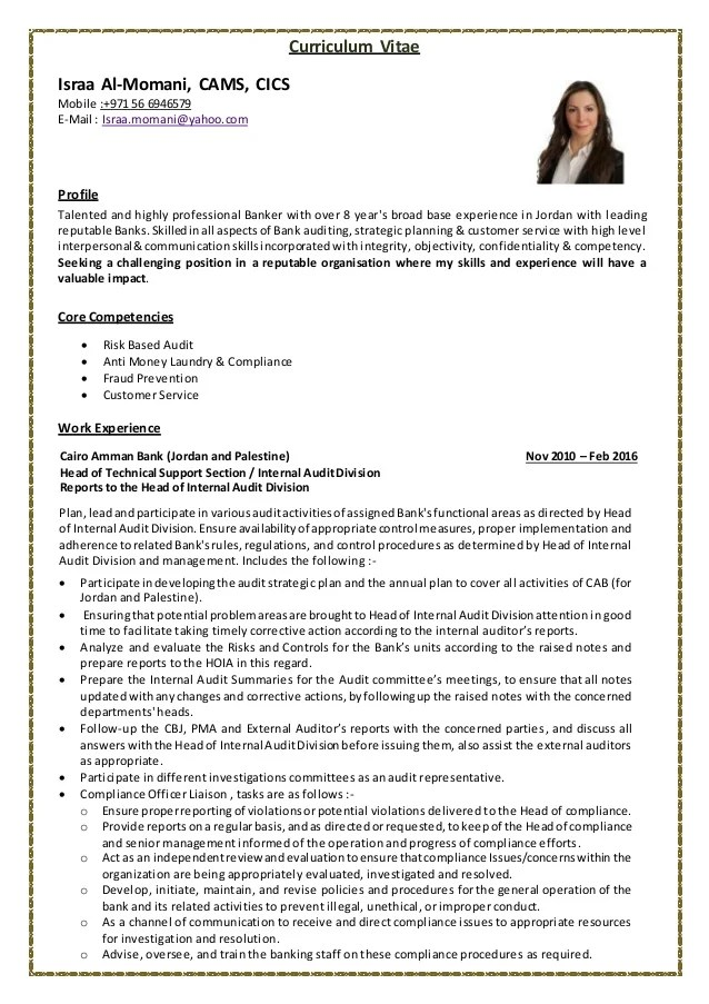 internal auditor resumes - Intoanysearch