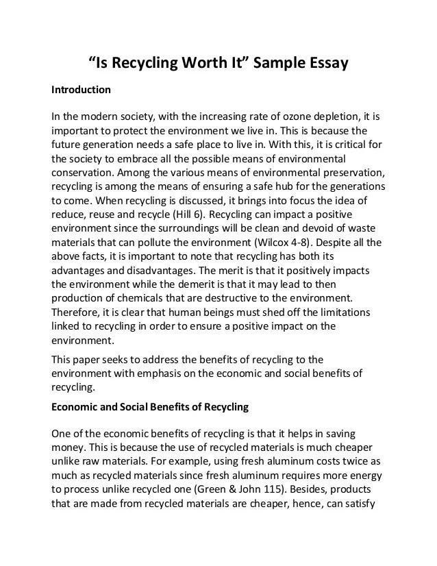 Persuasive Essay Should Recycling Be Mandatory
