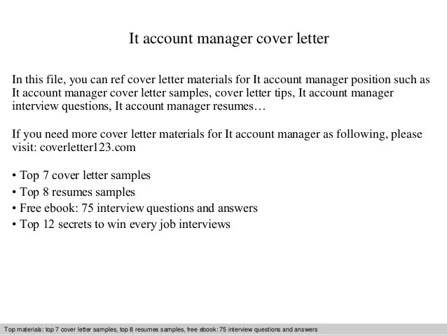 Sample Accounts Payable Manager Resume Ap Manager It Account Manager Cover Letter