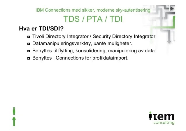 Tivoli Directory Server Pass Through Authentication Ibm Connections Med Sikker, Moderne Sky-autentisering