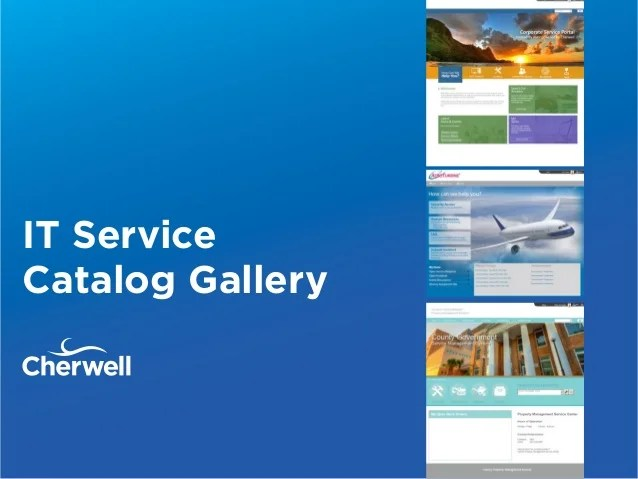 services catalogue examples