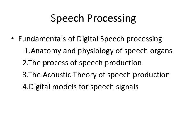 speech communication process