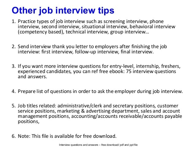 best answers to interview questions - Selol-ink - Best Interview Answers