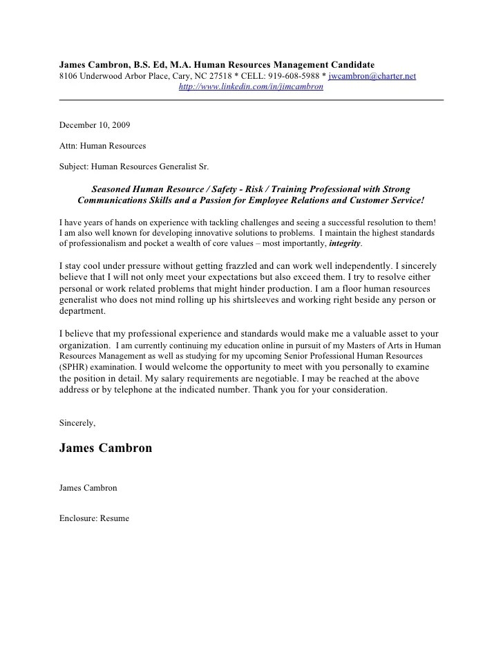 Cover Letter Examples And Writing Tips The Balance James Cambron Cover Letter 2010