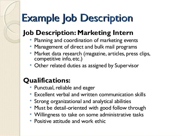 Marketing Intern Resume Template | Kpmg Cv Advice