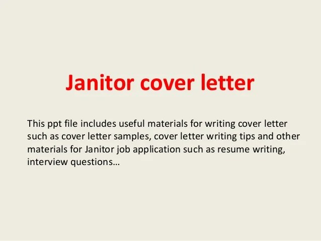 Cover Letters Legal Assistant Cover Letters Sample Cover Letters Resume Cover Letters Janitor Cover Letter