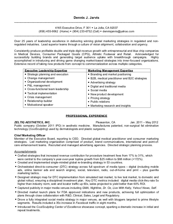 ceo resume sample doc - Demireagdiffusion