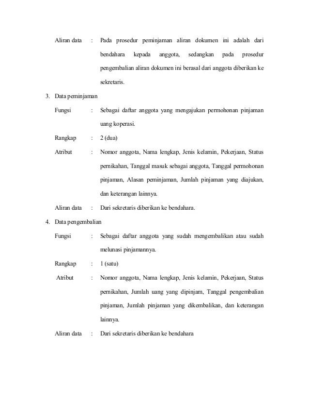 contoh formulir peminjaman uang koperasi