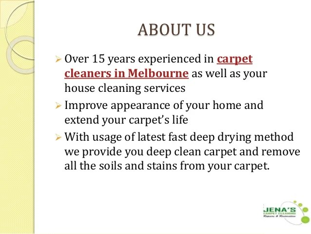 Professional Carpet Cleaning Melbourne - Jenas Carpet Cleaning