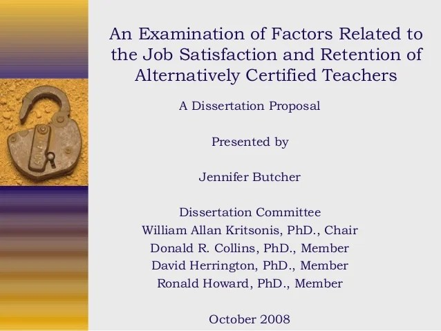 Dissertation proposal defense presentation ppt