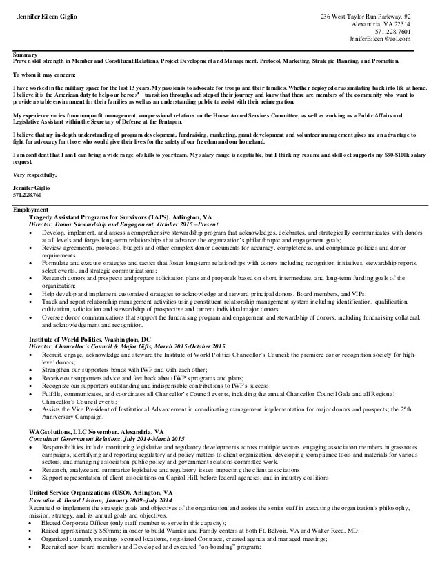 Legislative Aide Cover Letter - sarahepps -