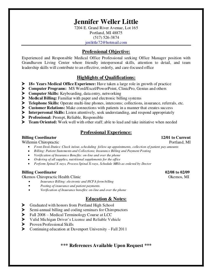 billing manager resume samples