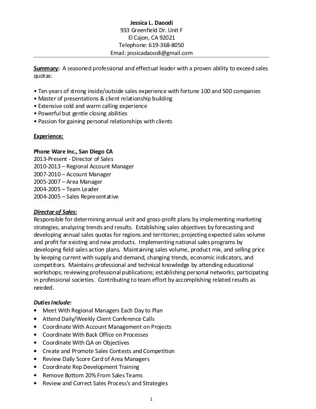 resume examples for timeshare sales