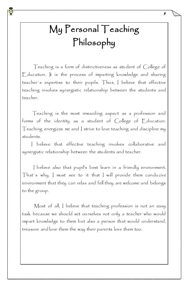 4 Sample Teaching Philosophy Examples Thoughtco Jetron Portfolio In Practice Teaching