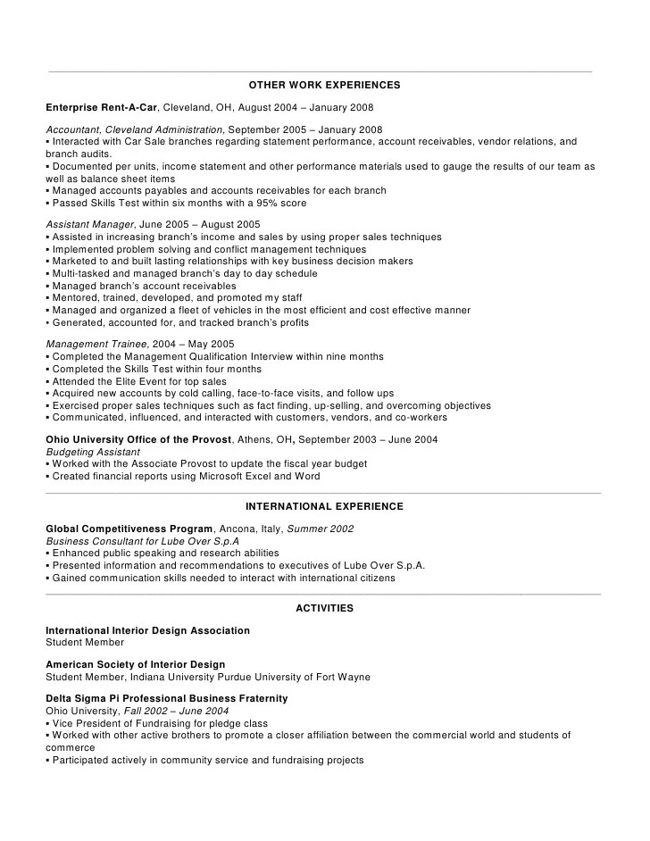 Resume Student Objective Examples Internships Resume Objective Examples Monster Enterprise Rent A Car Resume Examples Resume Format 2017
