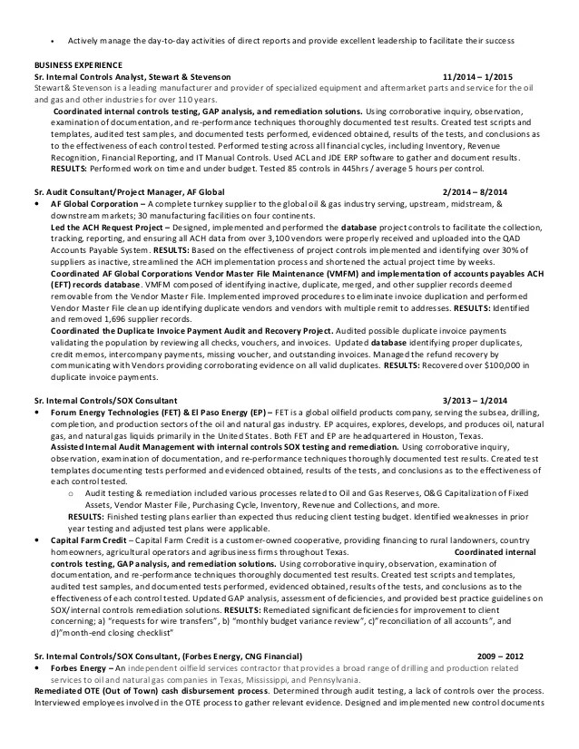 sample resume for auditor - Akbagreenw