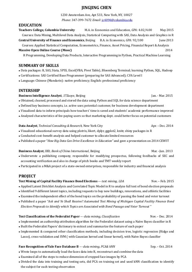 intelligence analyst resume - Pinarkubkireklamowe