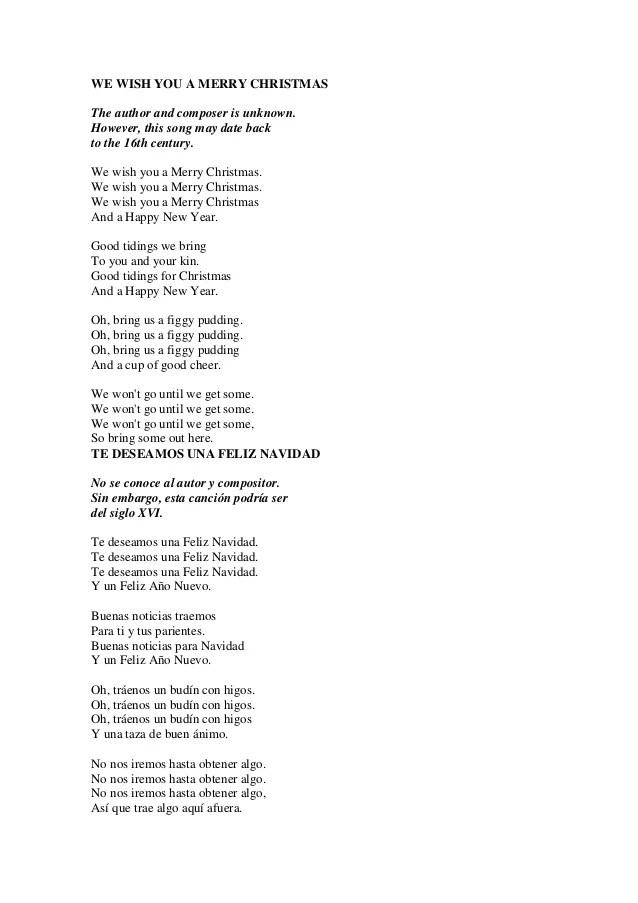 Letra de canciones navidad en ingles merry christmas