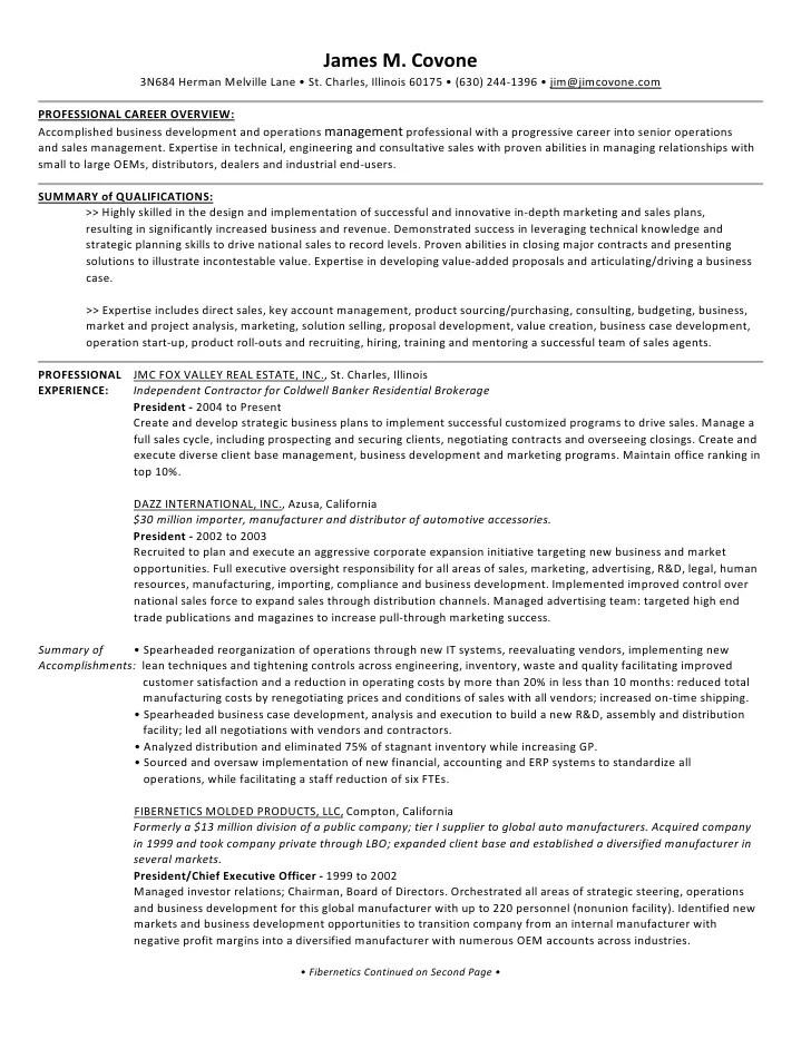 ad resume sample