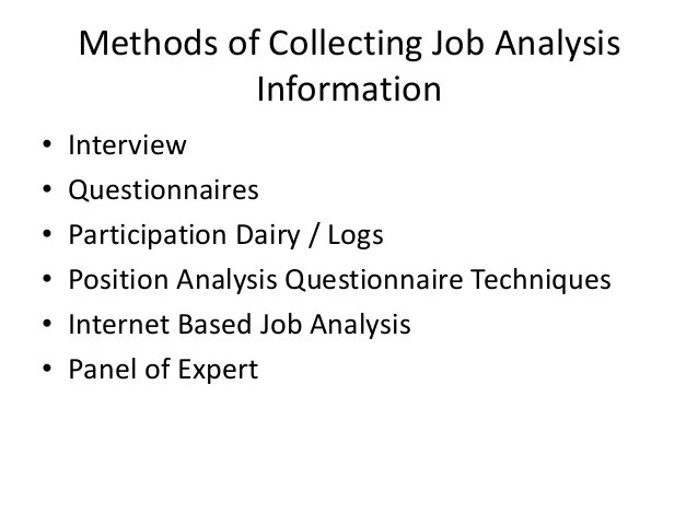 job analysis questionnaires