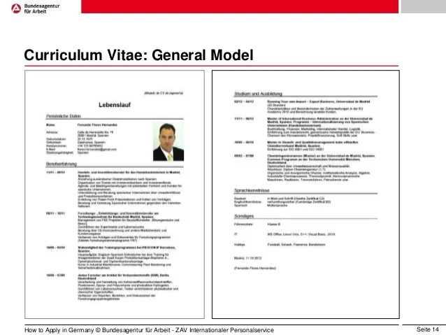 Job Resume Computer Skills Computer Resume Model For Better Job Prospects Job Application In Germany Eng